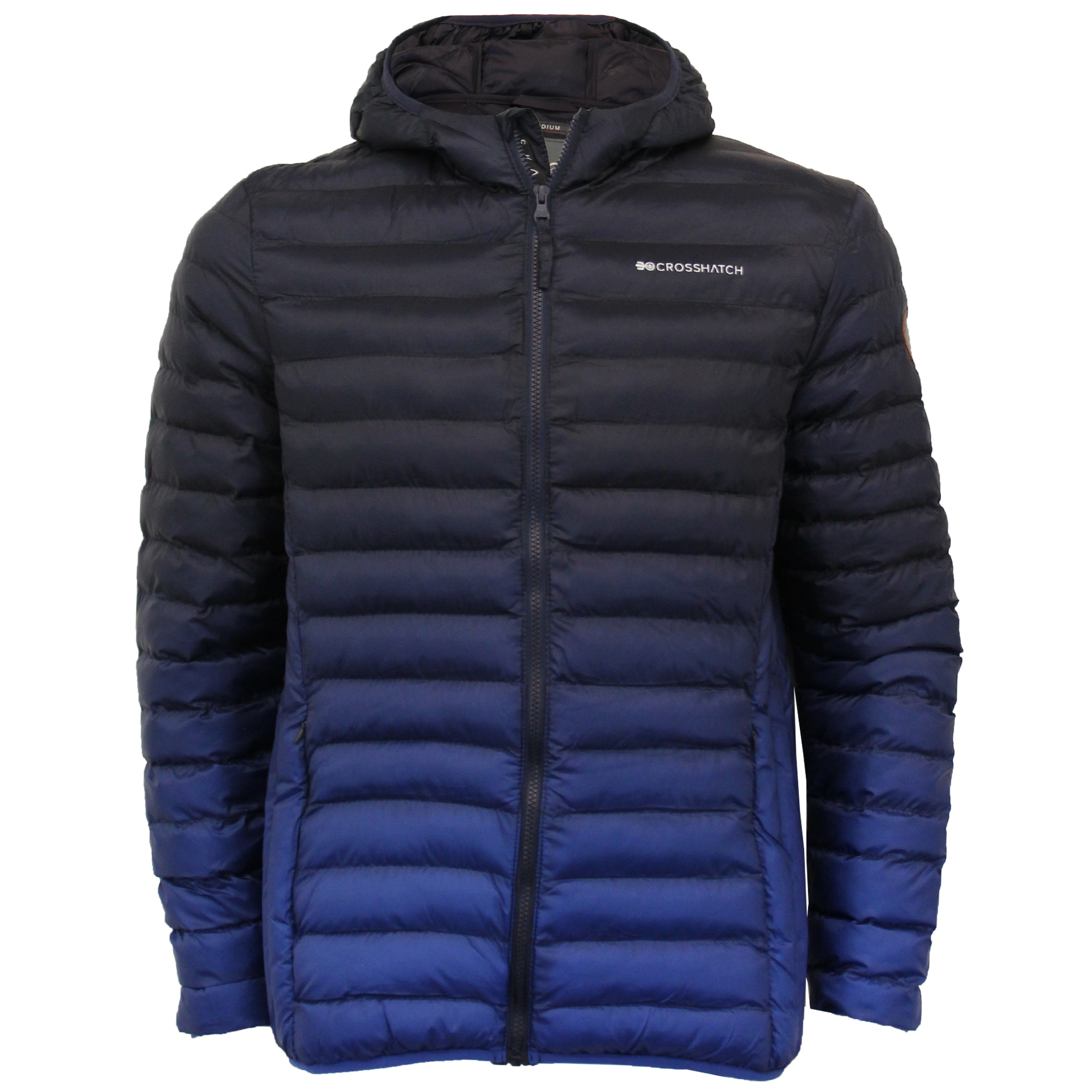 Mens-Jacket-Crosshatch-Hooded-Padded-Quilted-Two-Tone-FADEDOWN-Lined-Winter-New thumbnail 19