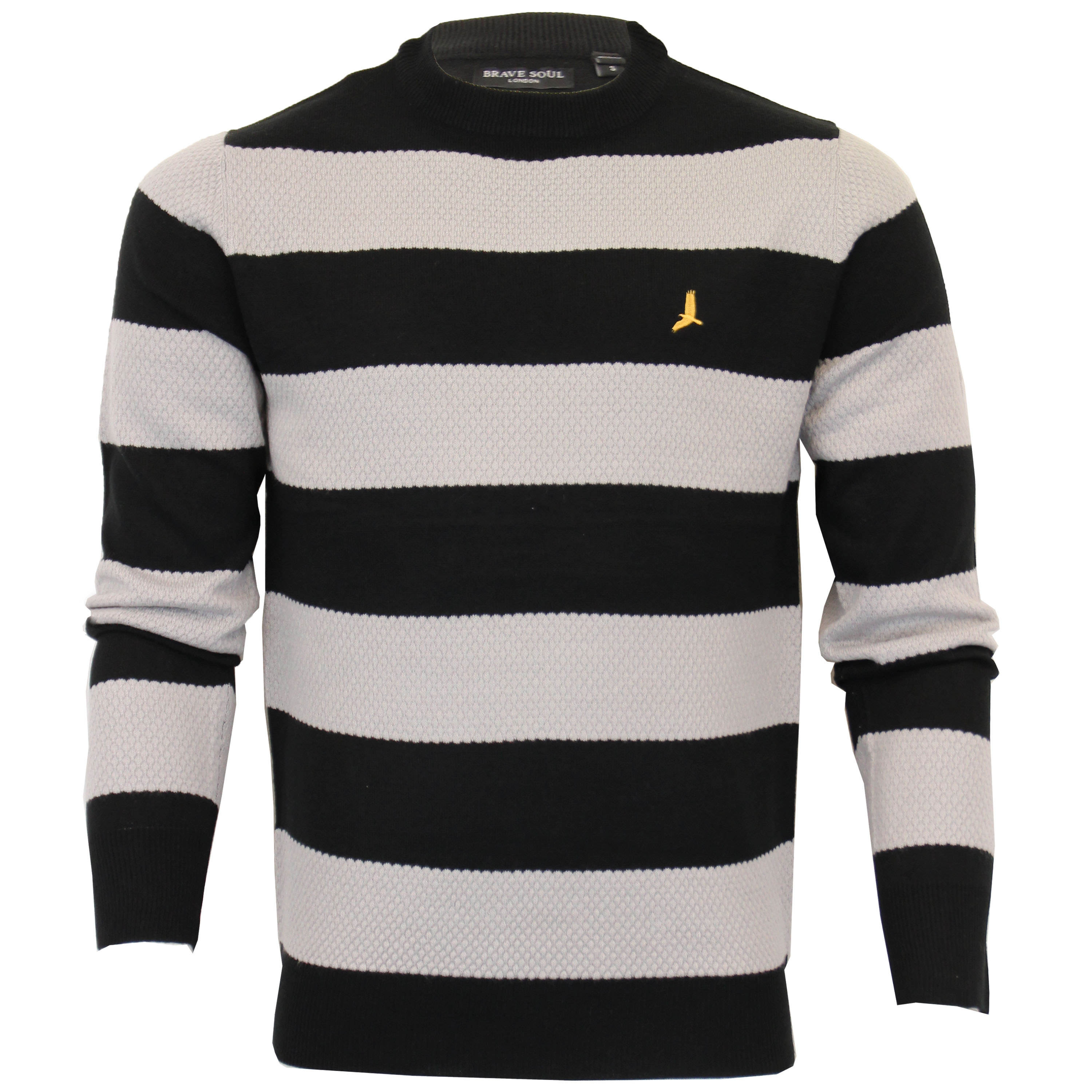 Mens-Jumper-Brave-Soul-Knitted-Sweater-Pullover-GOODWIN-Crew-Neck-Top-Winter-New thumbnail 2