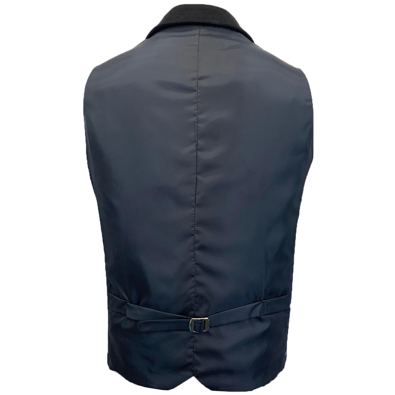 Mens-MARENO-Waistcoat-Wool-Mix-Formal-Vest-Herringbone-Tweed-Check-Velvet-Lined thumbnail 36