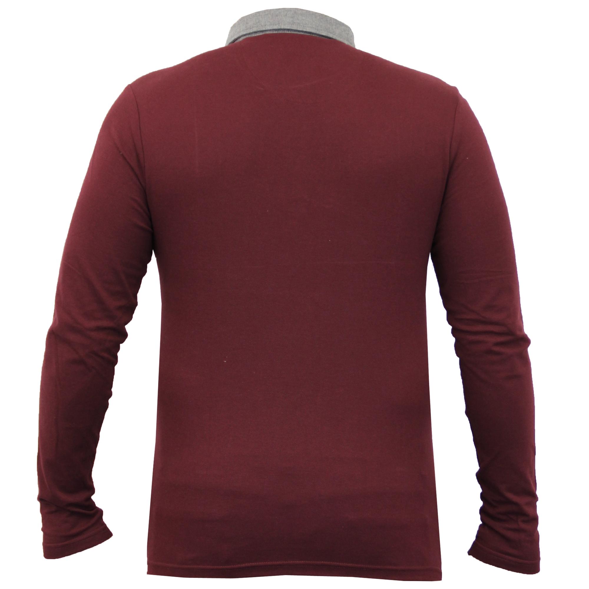 Homme-a-Manches-Longues-Jersey-Top-Brave-Soul-Pique-Polo-T-Shirt-A-Col-Ete-Neuf miniature 9