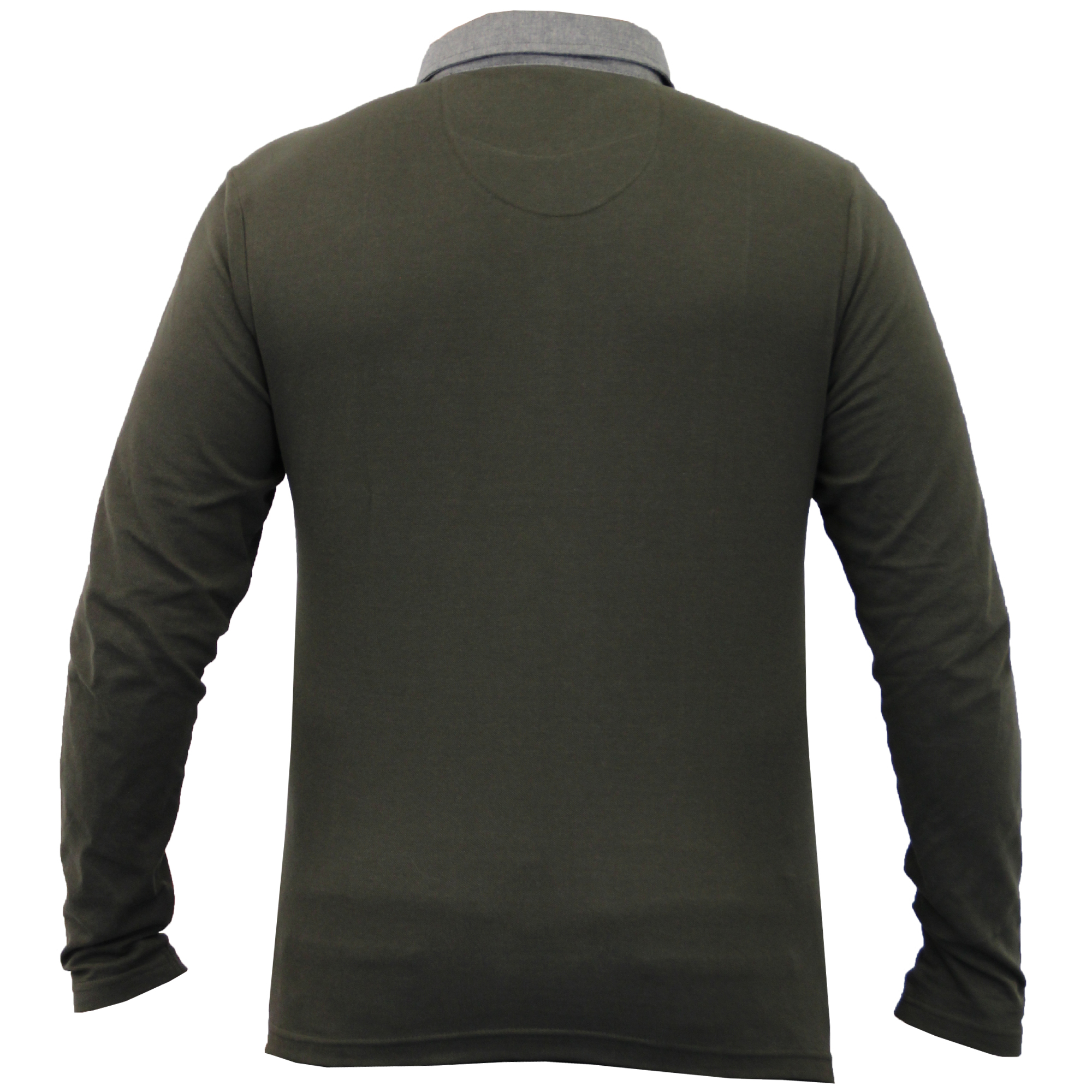 Homme-a-Manches-Longues-Jersey-Top-Brave-Soul-Pique-Polo-T-Shirt-A-Col-Ete-Neuf miniature 20