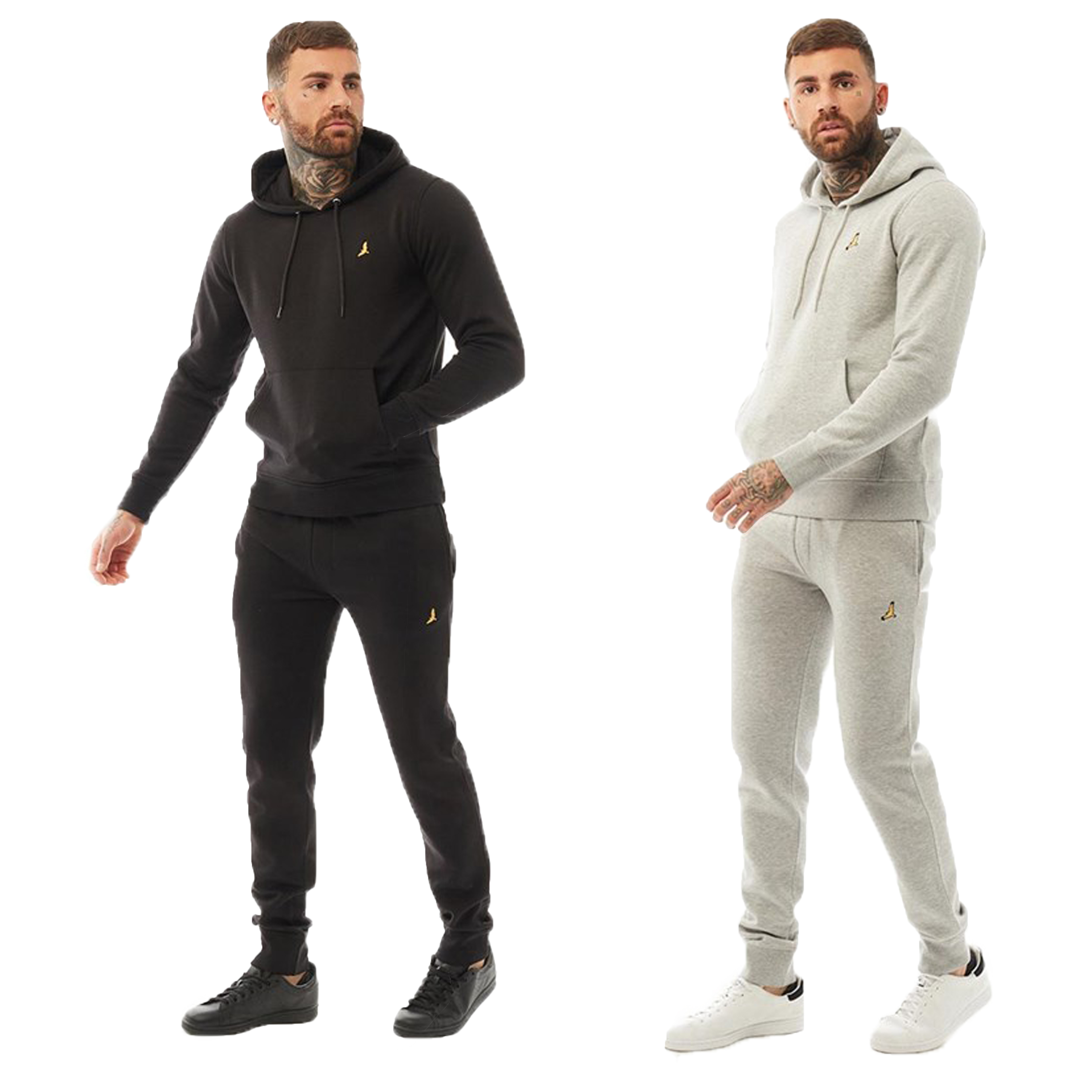 Mens-Brave-Soul-2-Pack-Over-The-Head-Hoodie-Shorts-Brushed-Back-Fleece-Fashion thumbnail 3