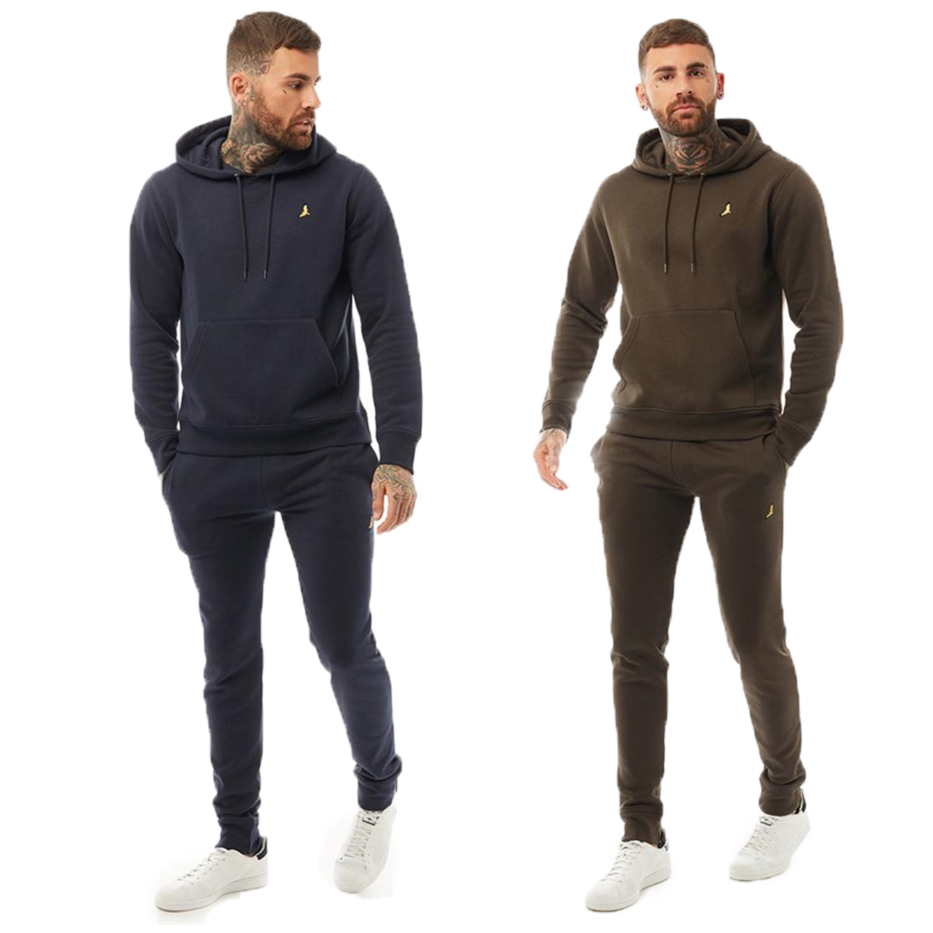 Mens-Brave-Soul-2-Pack-Over-The-Head-Hoodie-Shorts-Brushed-Back-Fleece-Fashion thumbnail 9