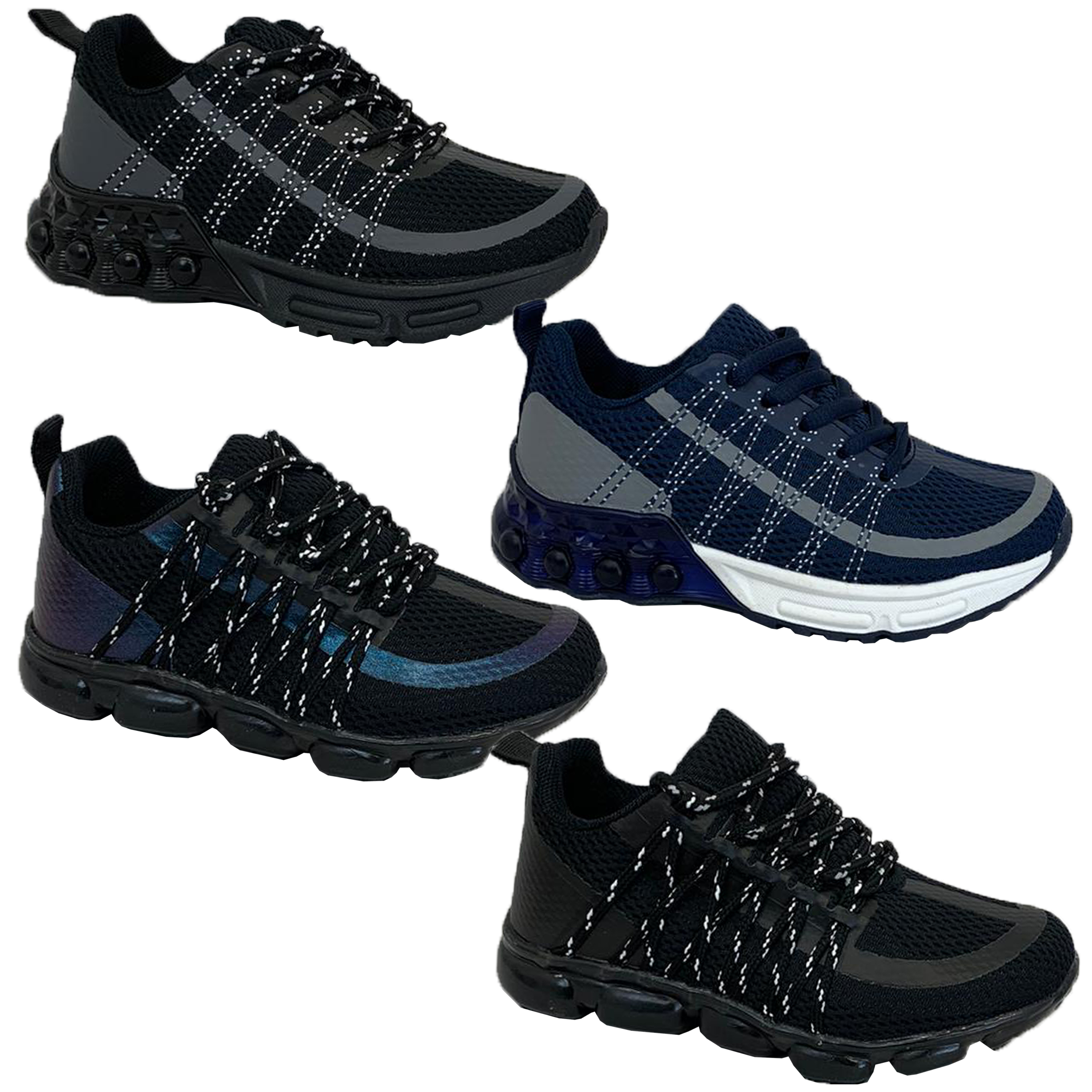 Boys-Bubble-Trainers-Kids-Joggers-Lace-Up-Shoes-Mesh-Sneakers-Sports-New-Fashion thumbnail 5