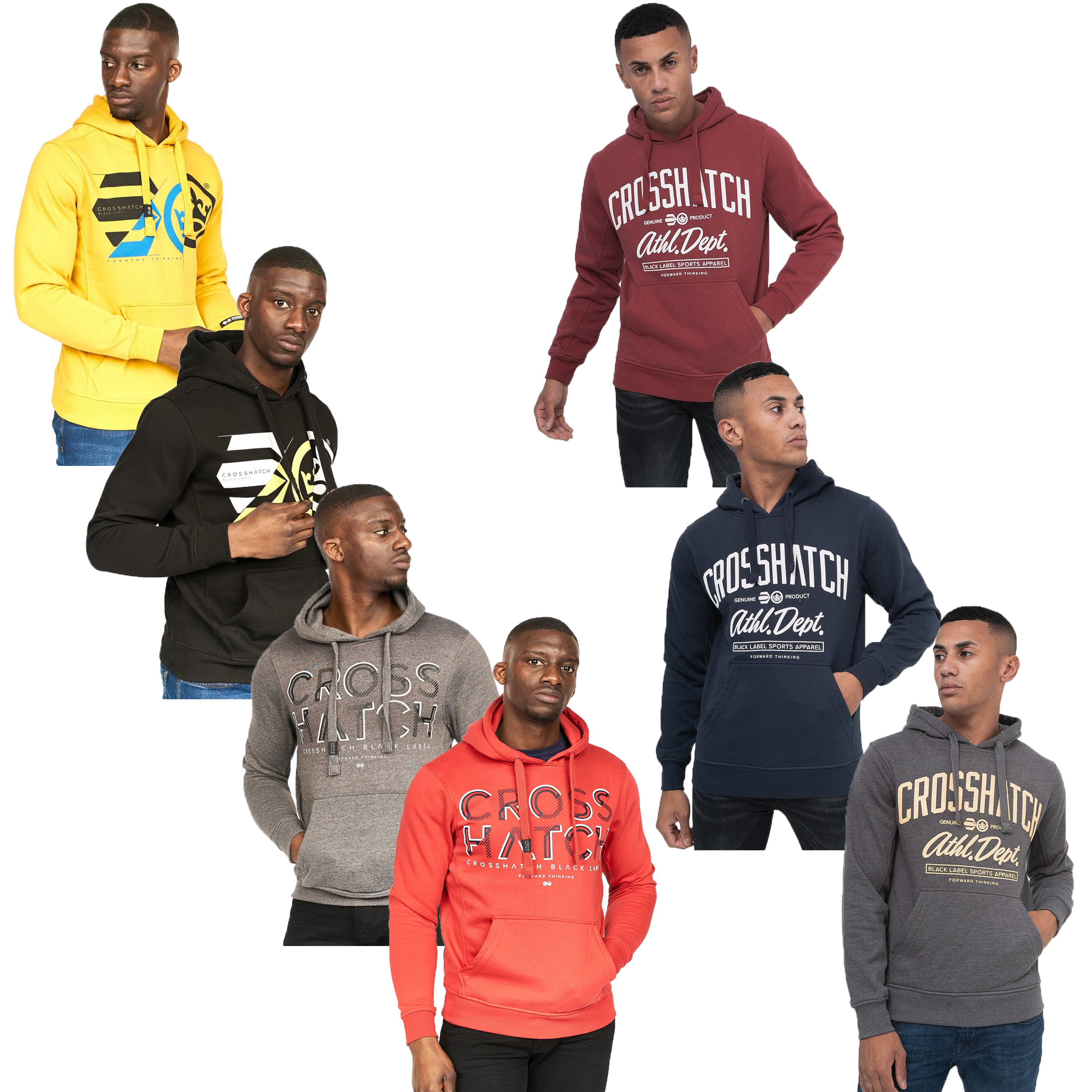 Mens-Sweatshirt-By-Crosshatch-Over-The-Head-Hoodie-Printed-Pullover-Cotton-Top thumbnail 5
