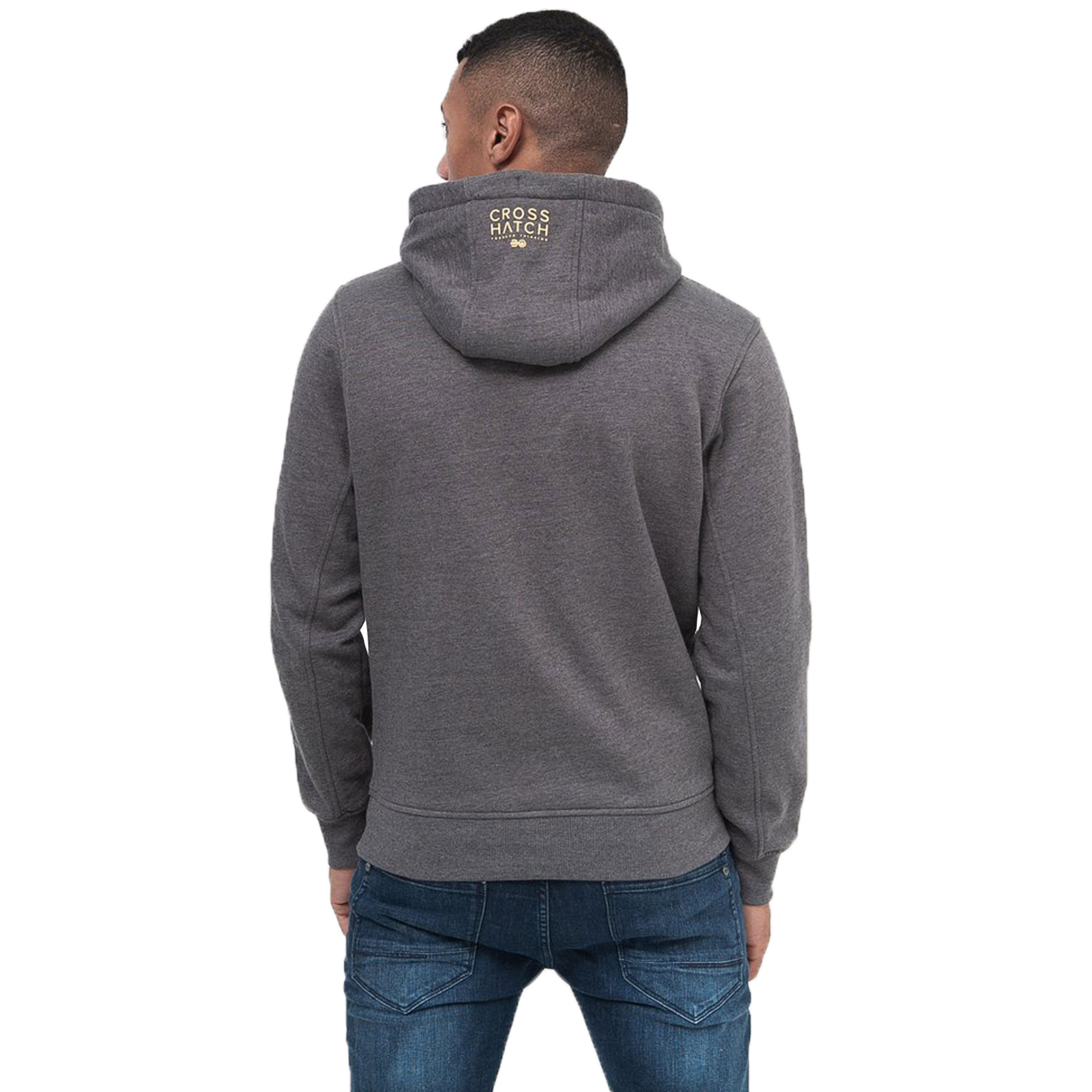 Mens-Sweatshirt-By-Crosshatch-Over-The-Head-Hoodie-Printed-Pullover-Cotton-Top thumbnail 7