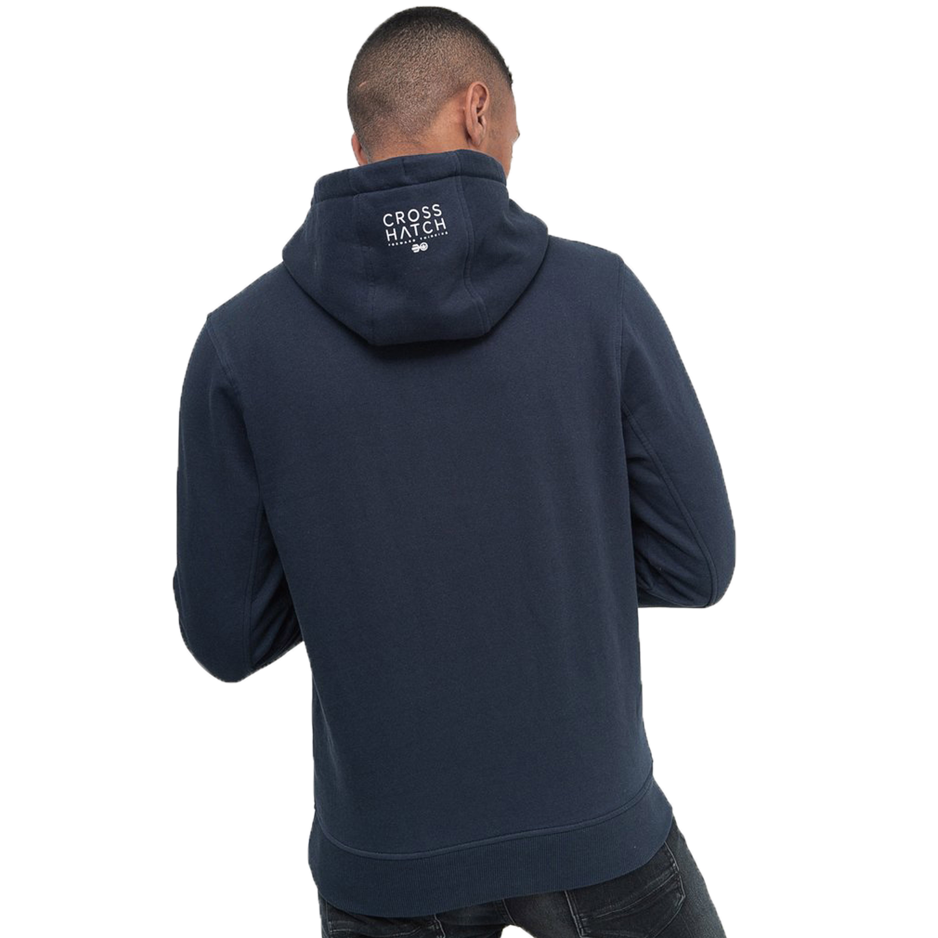 Mens-Sweatshirt-By-Crosshatch-Over-The-Head-Hoodie-Printed-Pullover-Cotton-Top thumbnail 15