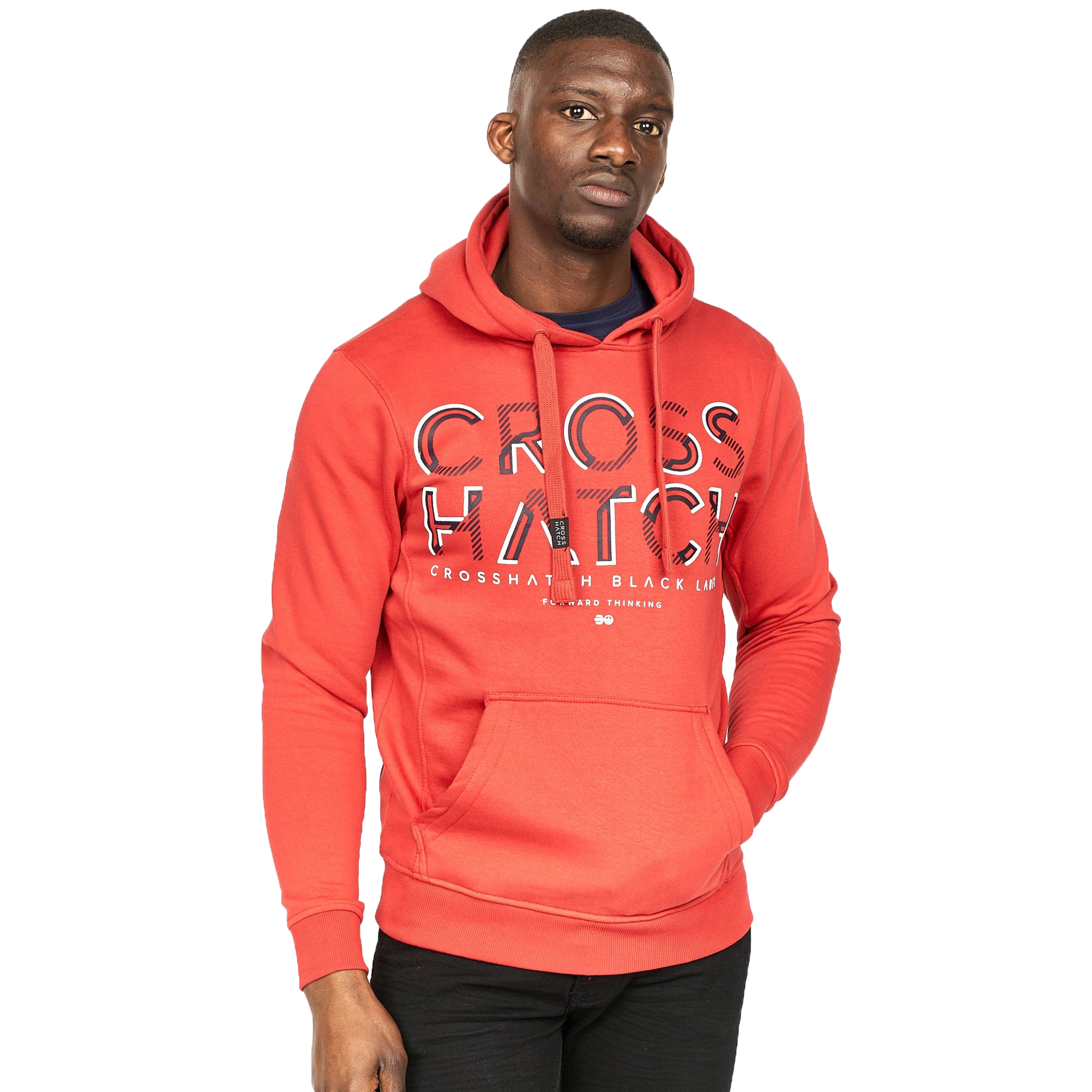 Mens-Sweatshirt-By-Crosshatch-Over-The-Head-Hoodie-Printed-Pullover-Cotton-Top thumbnail 22