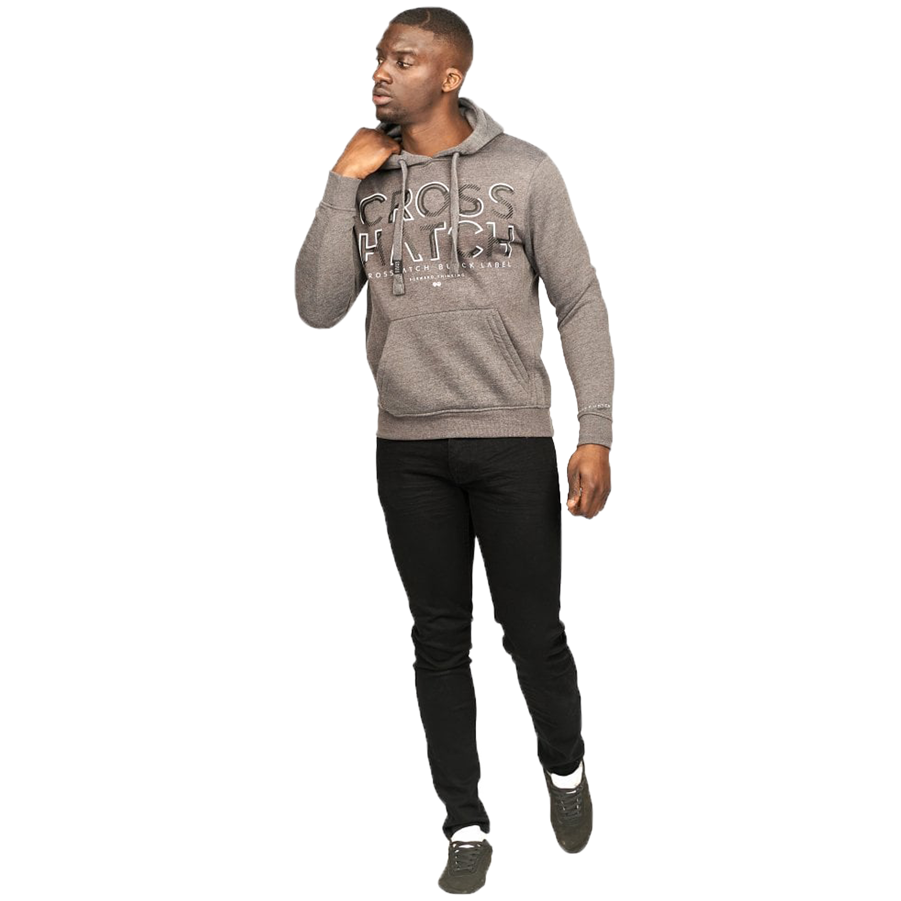 Mens-Sweatshirt-By-Crosshatch-Over-The-Head-Hoodie-Printed-Pullover-Cotton-Top thumbnail 11