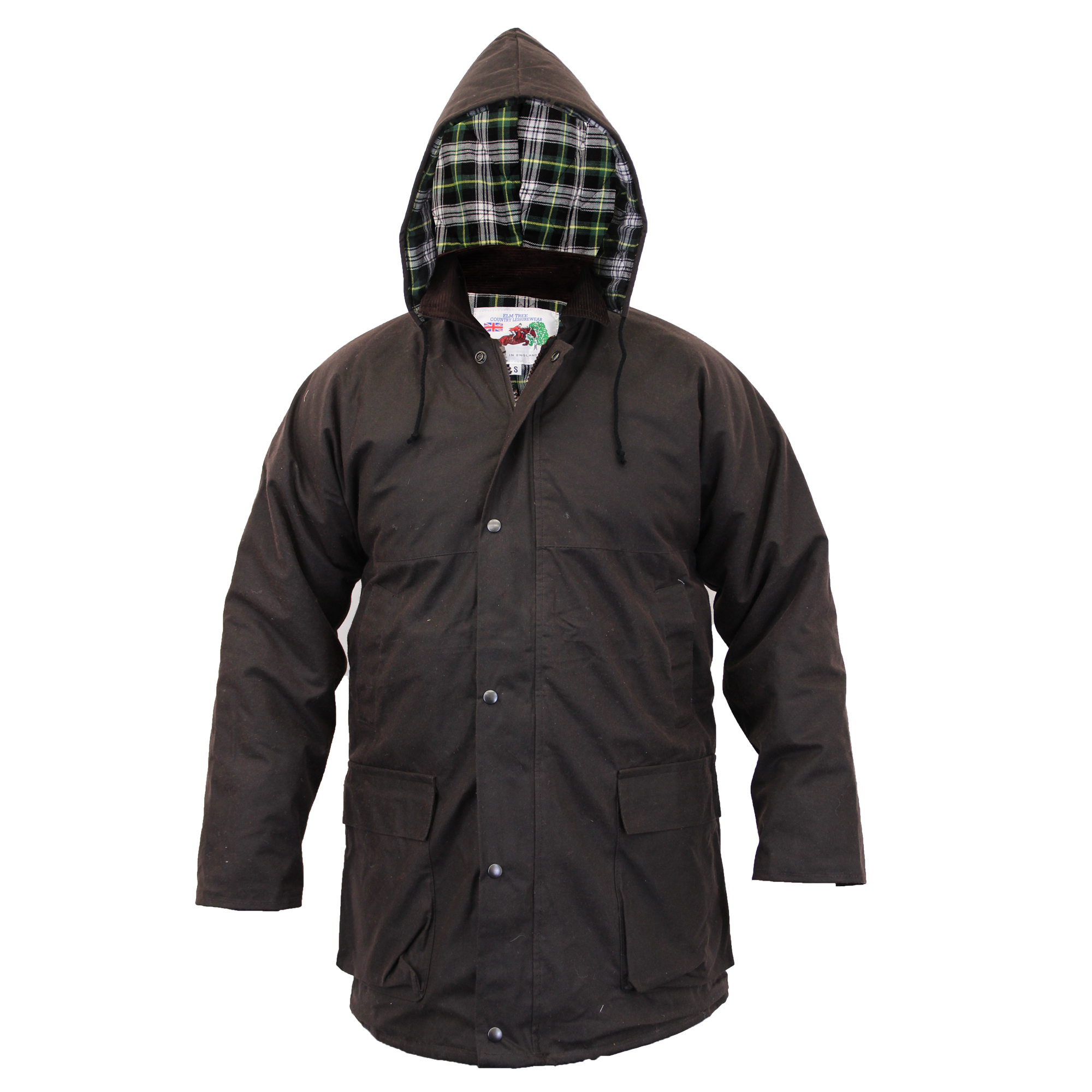 Brand new Checked Quilted wax jacket
