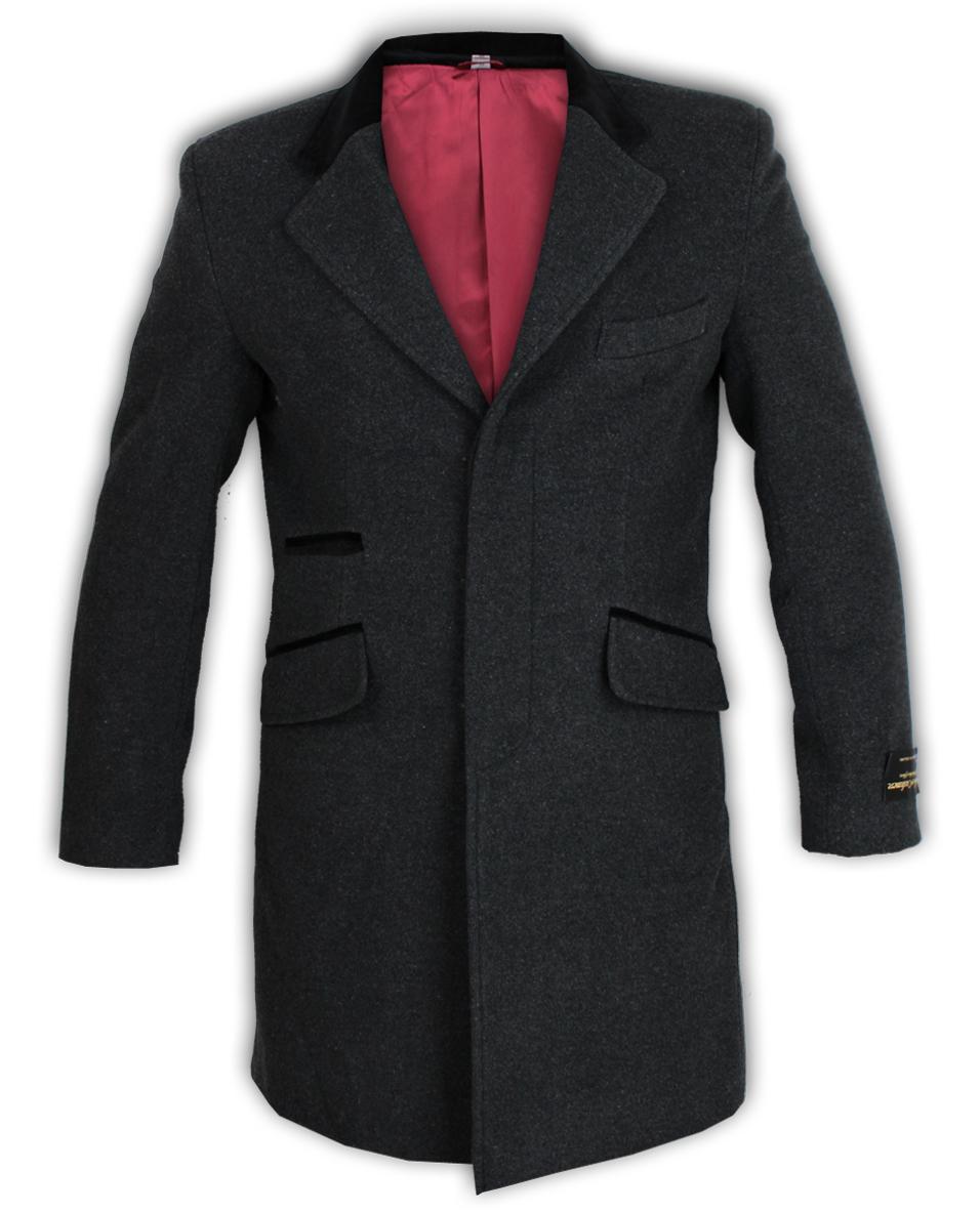Para-Hombre-Abrigo-Chaqueta-de-lana-cashmere-Casual-abrigos-Abrigo-Trench-Forro-De-Invierno miniatura 14