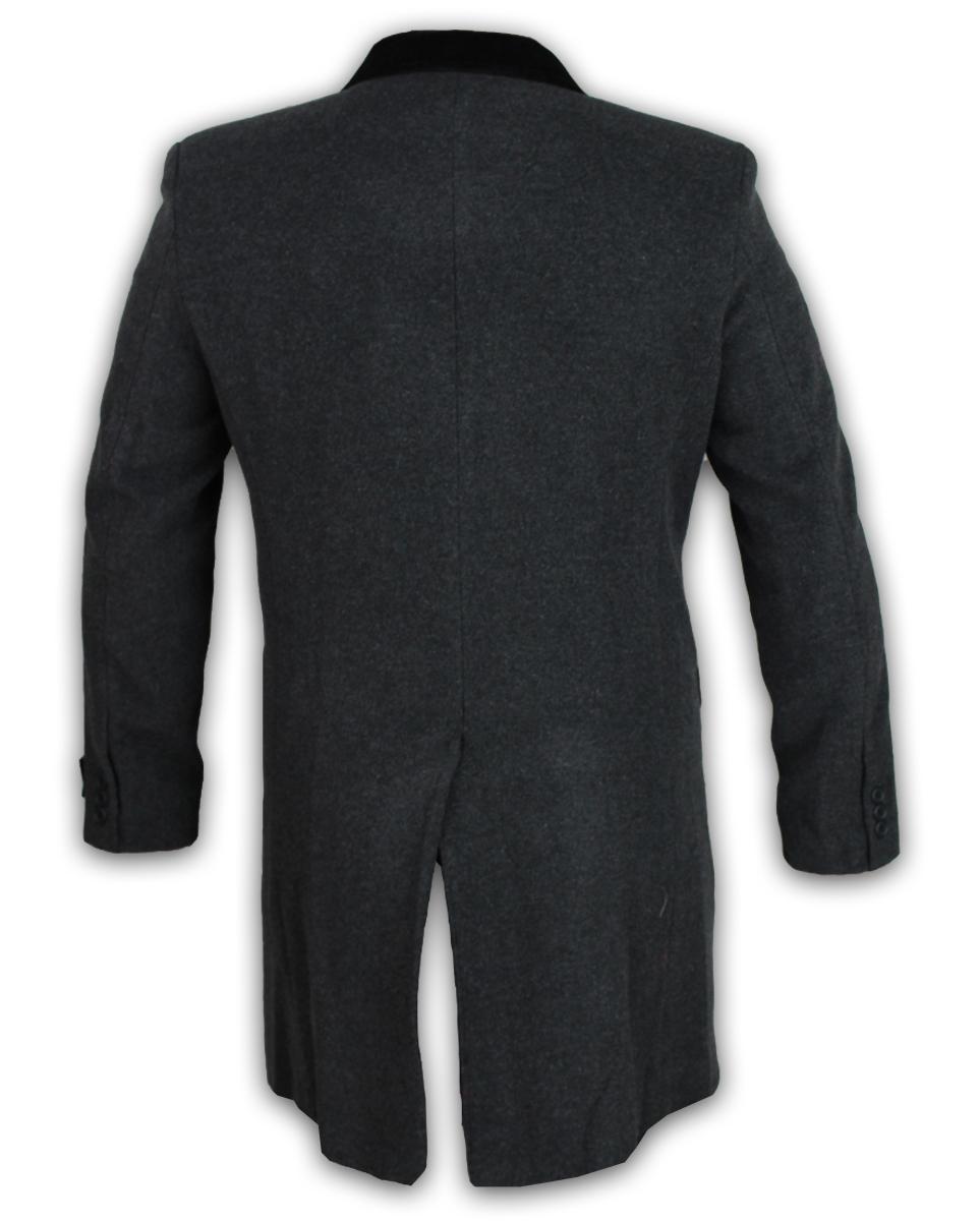 Para-Hombre-Abrigo-Chaqueta-de-lana-cashmere-Casual-abrigos-Abrigo-Trench-Forro-De-Invierno miniatura 15