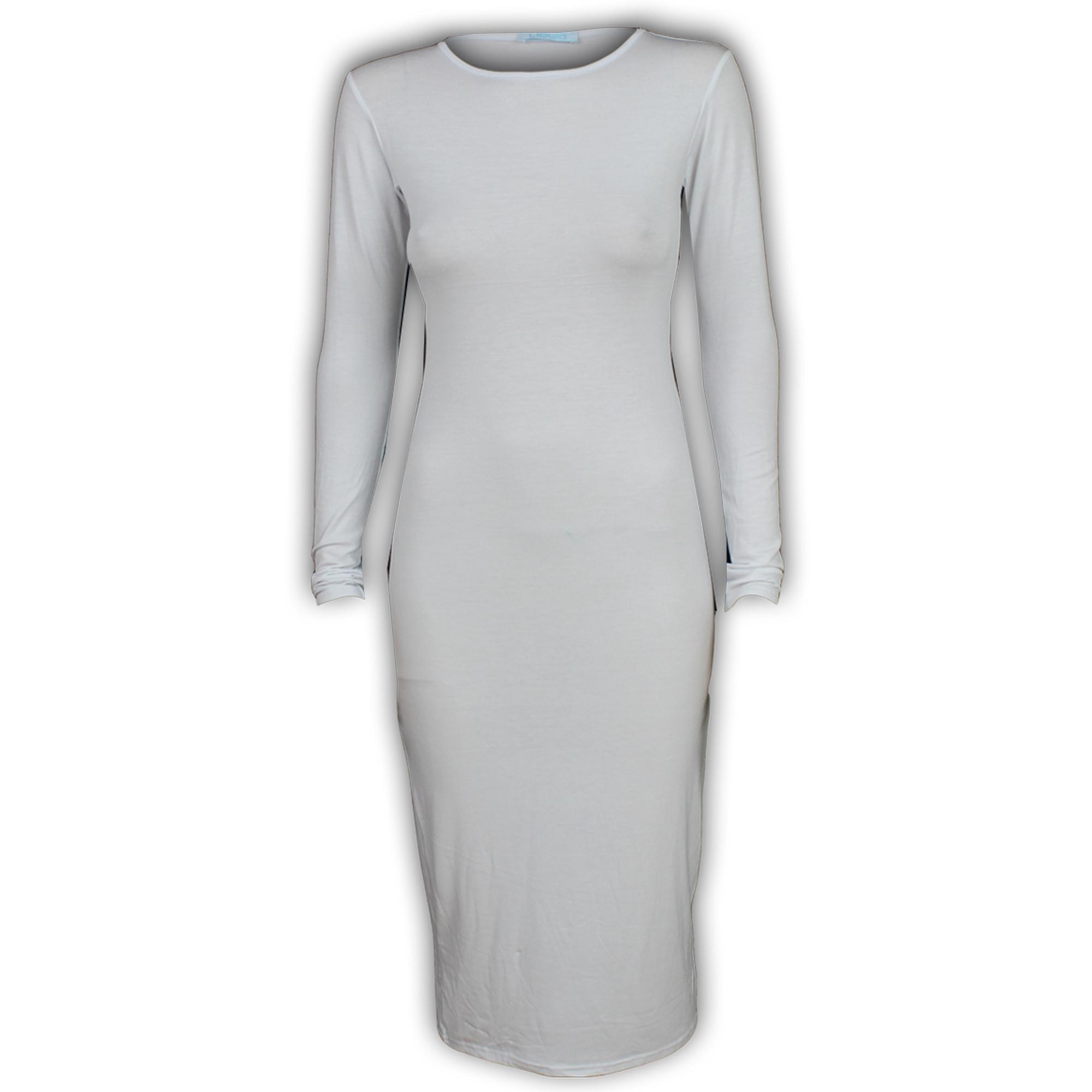 Neck Dresses Bodycon Crew Plain Long Sleeve tennessee dillards