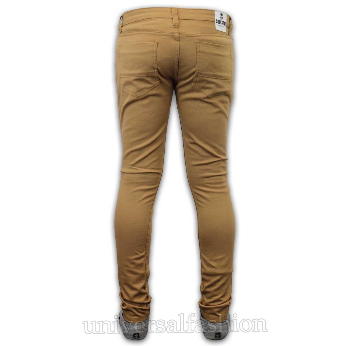 Mens Skinny Jeans Soul Star Slim Fit Stretch Denim Pants ...