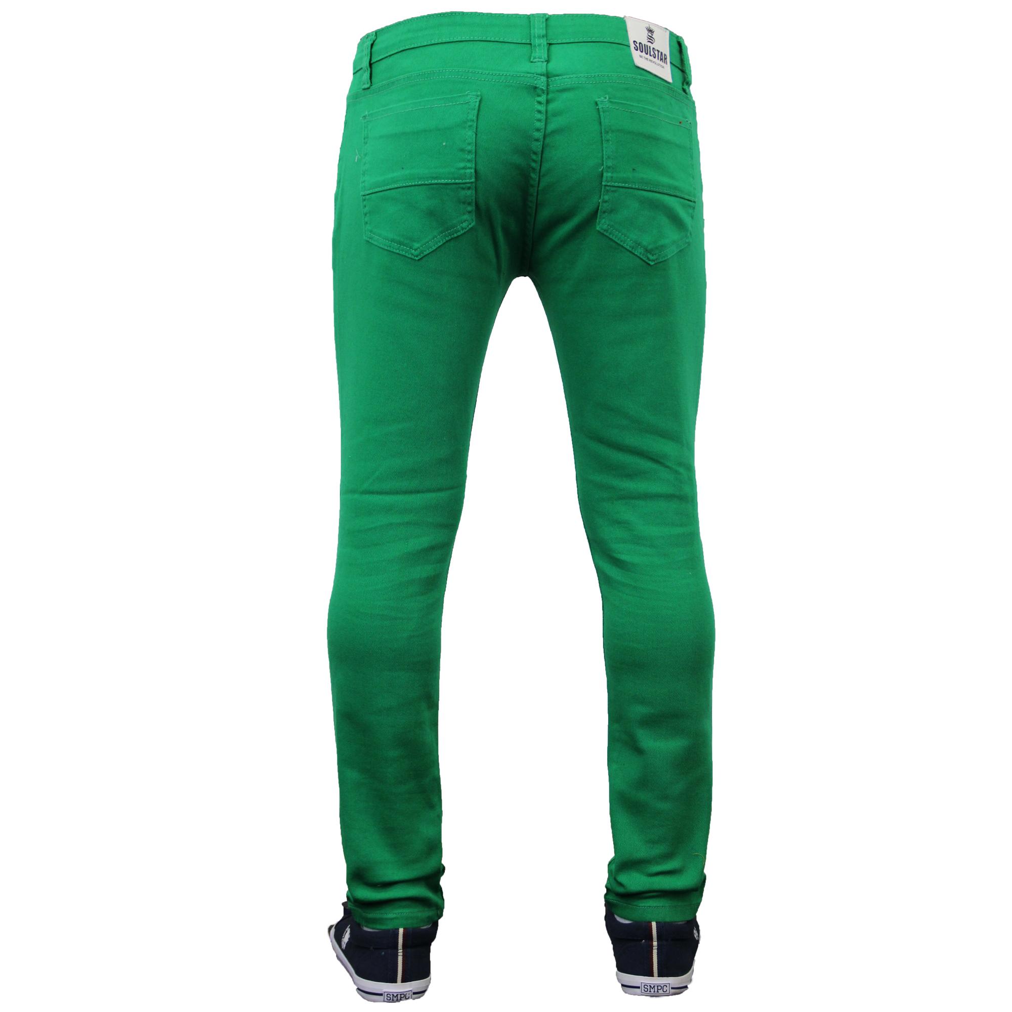 32aadf2c Mens Skinny Jeans Soul Star Slim Fit Stretch Denim Pants Trousers ...
