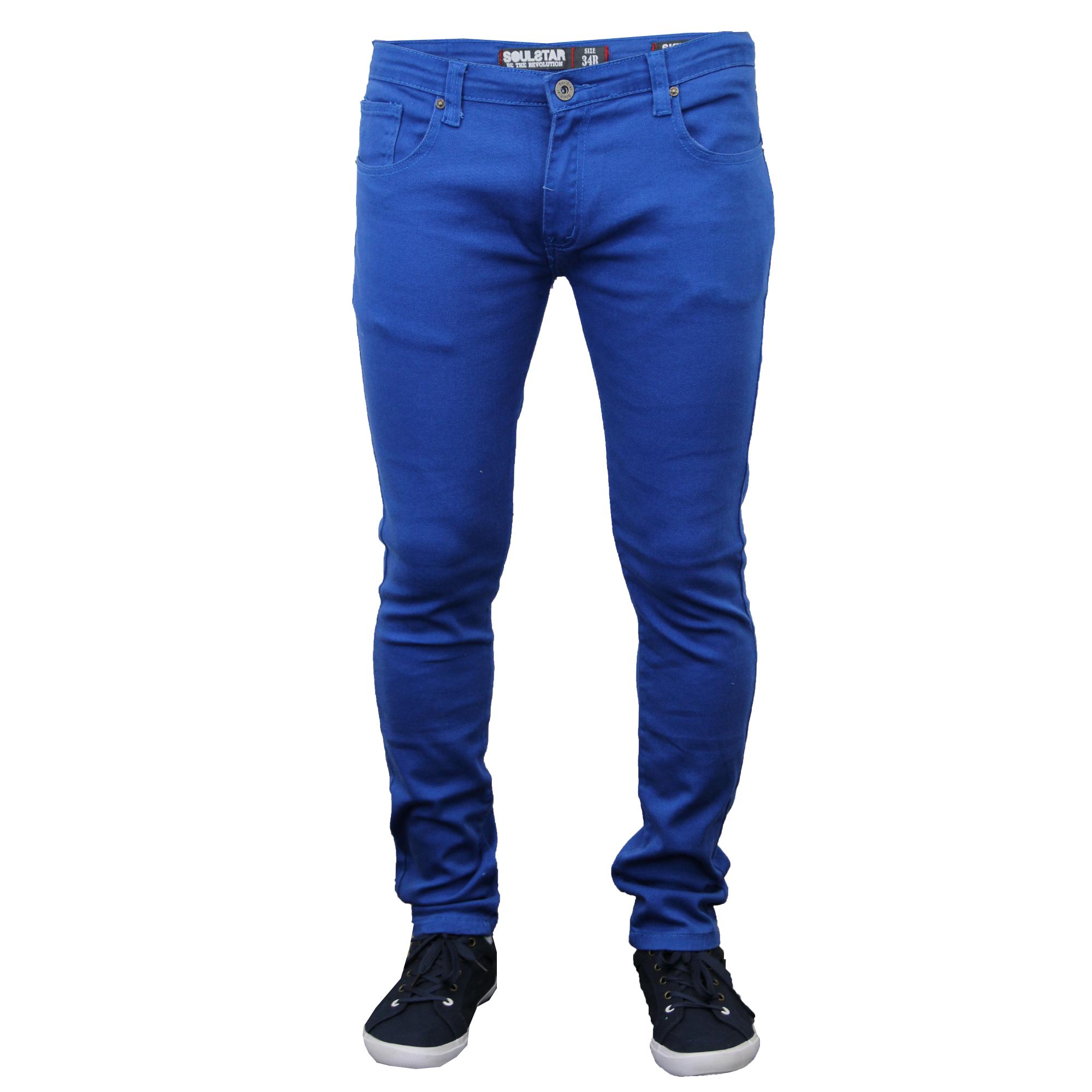 Mens-Skinny-Jeans-Soul-Star-Slim-Fit-Stretch-Denim-Pants-Trousers-Tapered-New