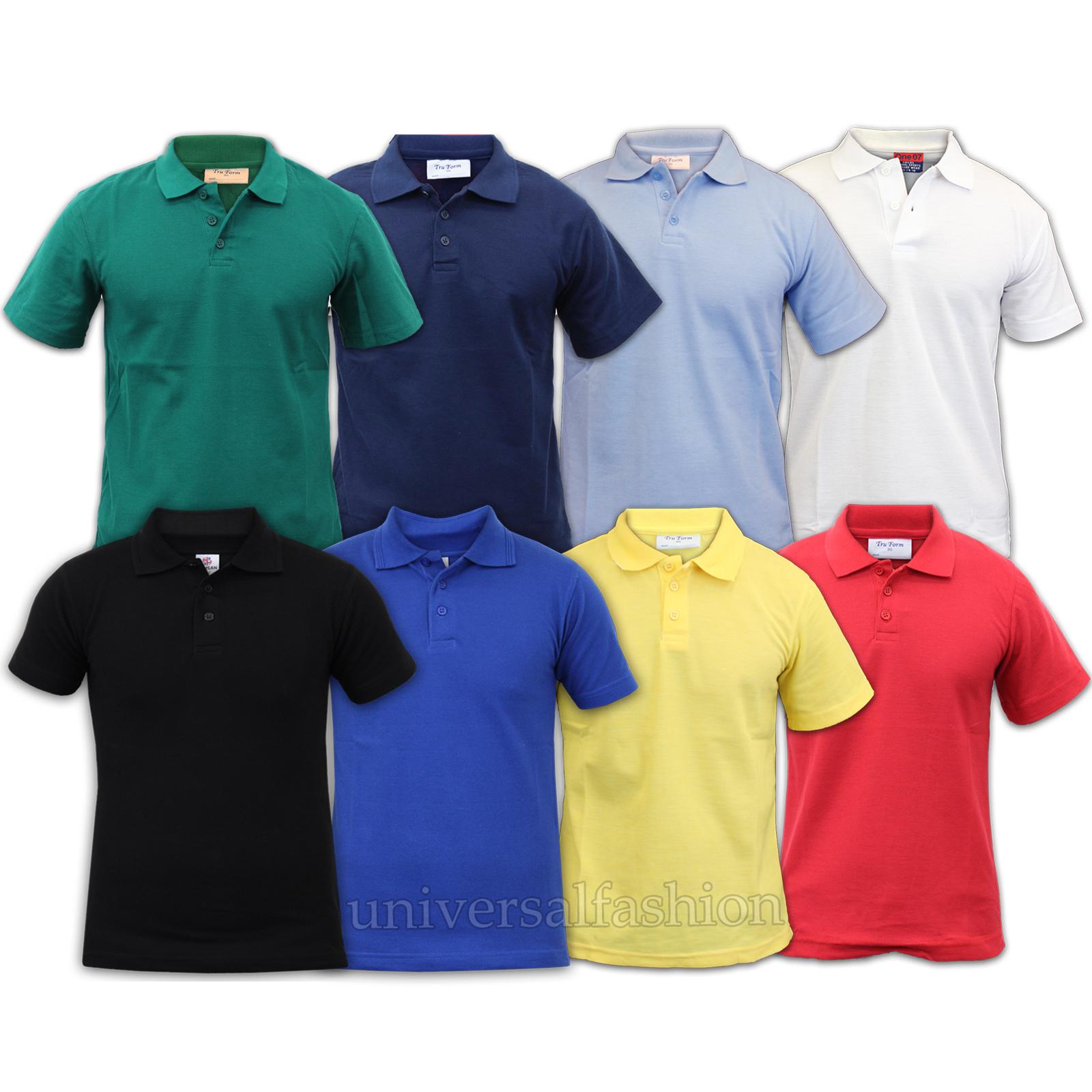 5a57e2b8 Boys Polo T Shirt School Uniform Pique Kids Children Short Sleeved ...