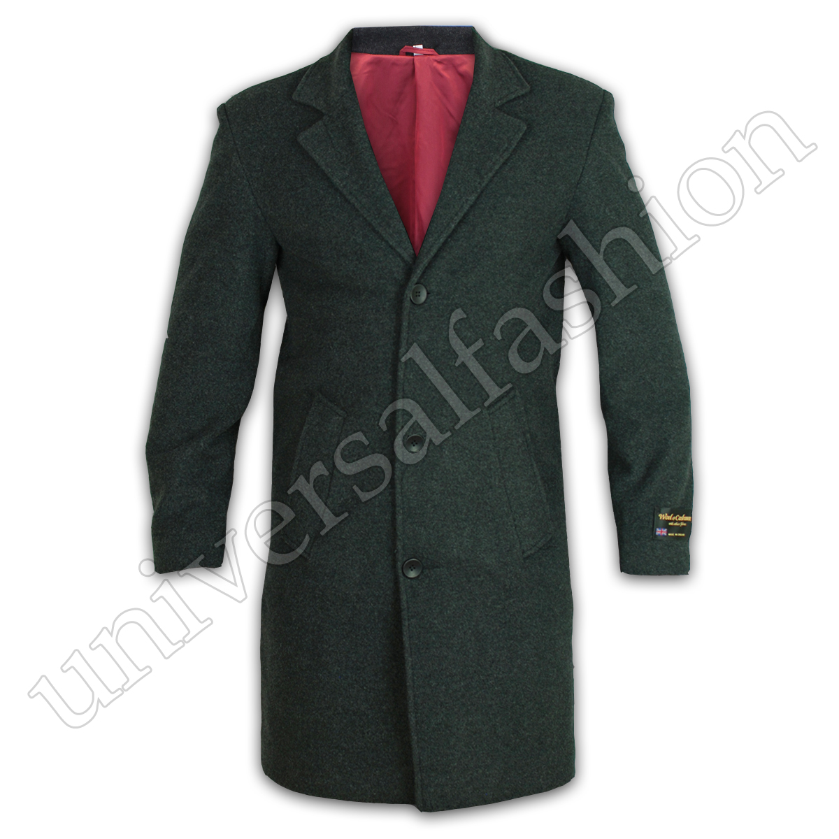 Mens-Wool-Cashmere-Coat-Jacket-Outerwear-Trench-Overcoat-Warm-Winter-Lined-New thumbnail 4
