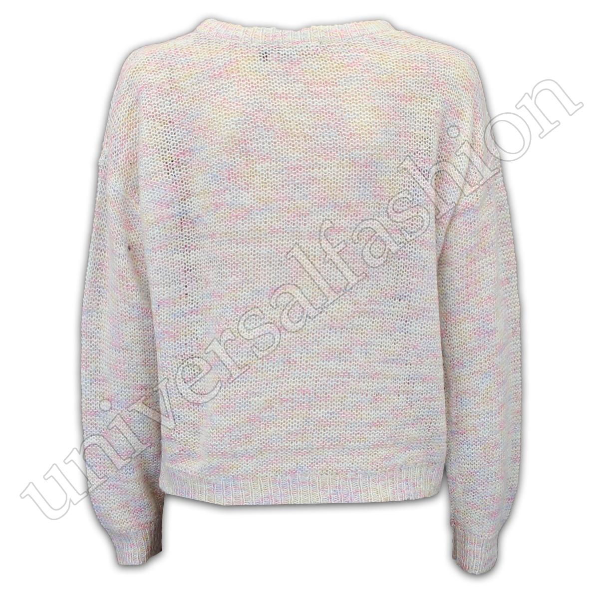 Jumper-Ladies-Alma-valiente-para-mujer-Knitted-holgados-Top-Sweater-Pullover-de-punto-Partido miniatura 3