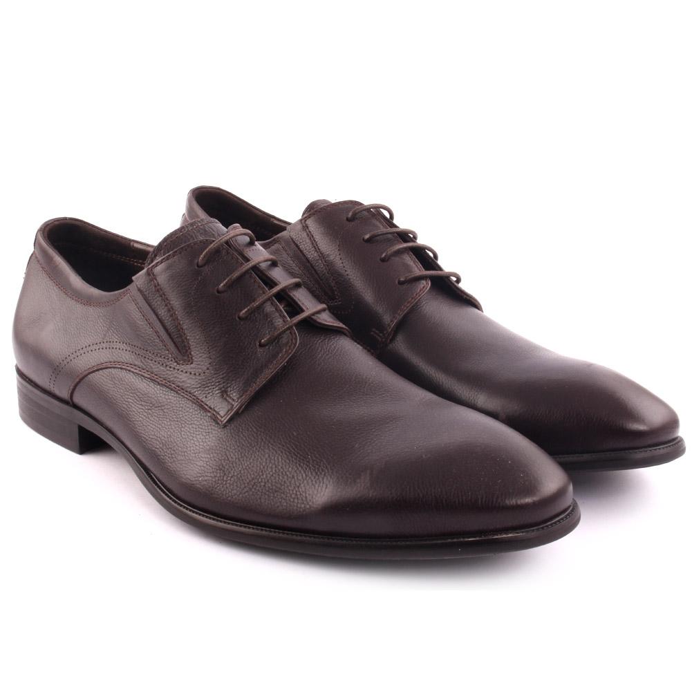 Unze hombres Con la KENTON Cuero Vestido Con hombres Cordones-up Oxfords Formal Café Talla 6-11 a7ffbd