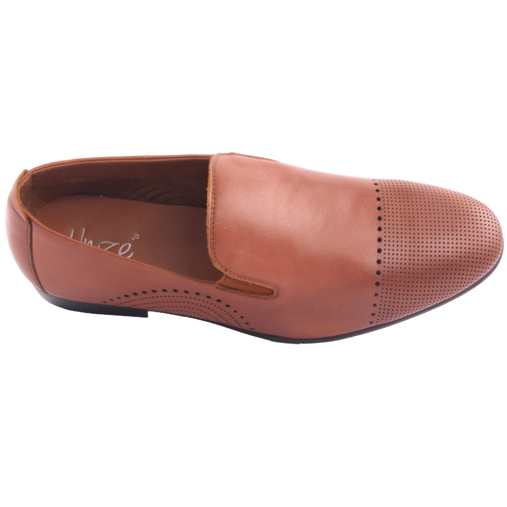 Unze hombres la KAIRHO Cuero Formal Slip-Ons Oxfords Zapatos Uk Size 6-11 tan