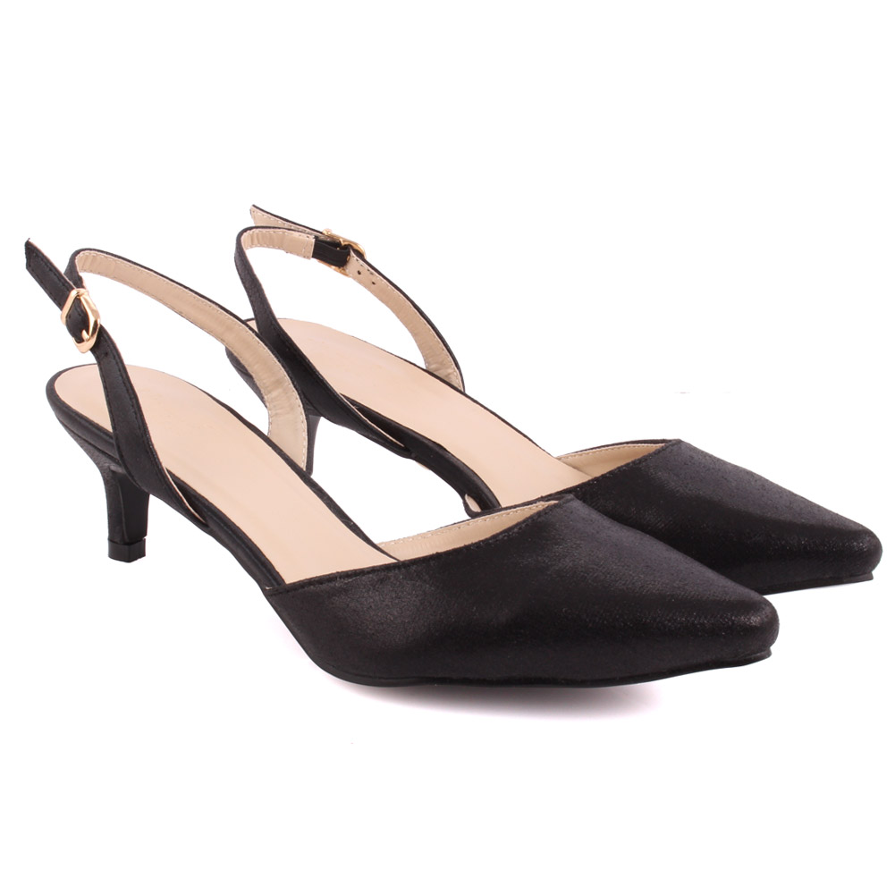 Unze mujeres am Onica trémulo señaló-Toe Tribunal Zapatos Uk Size 3-8 Negro