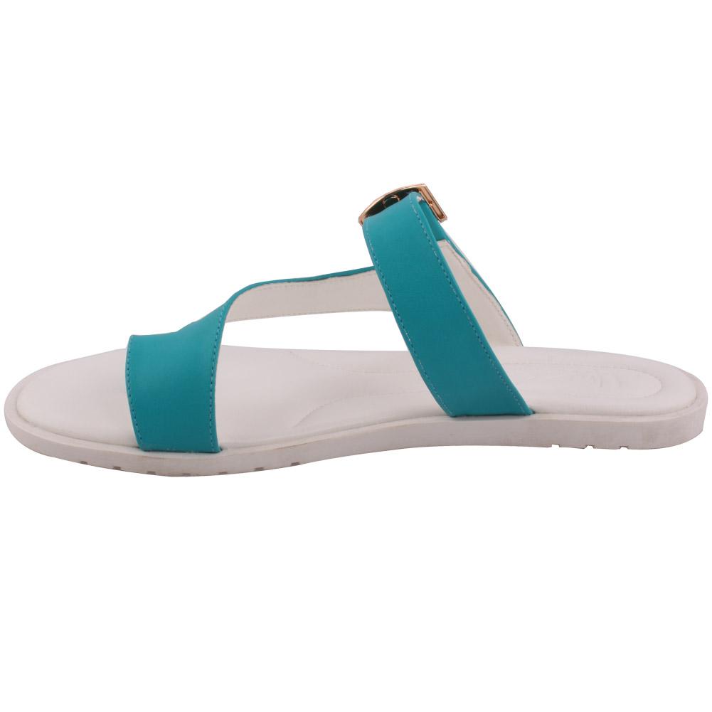 Unze mujeres Elena Anillo del dedo del pie plano Zapatillas Uk Size 3-8 Verde
