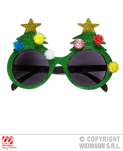 CHRISTMAS TREE GLASSES Accessory for Festive Xmas Nativity Fancy Dress