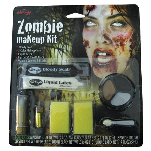 Zombie Makeup Kit Peeling Skin for Fancy Dress