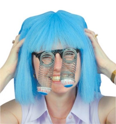 Goofy Droopy Eyes on Springs for New Years Photo Booth Fancy Dress Accessory