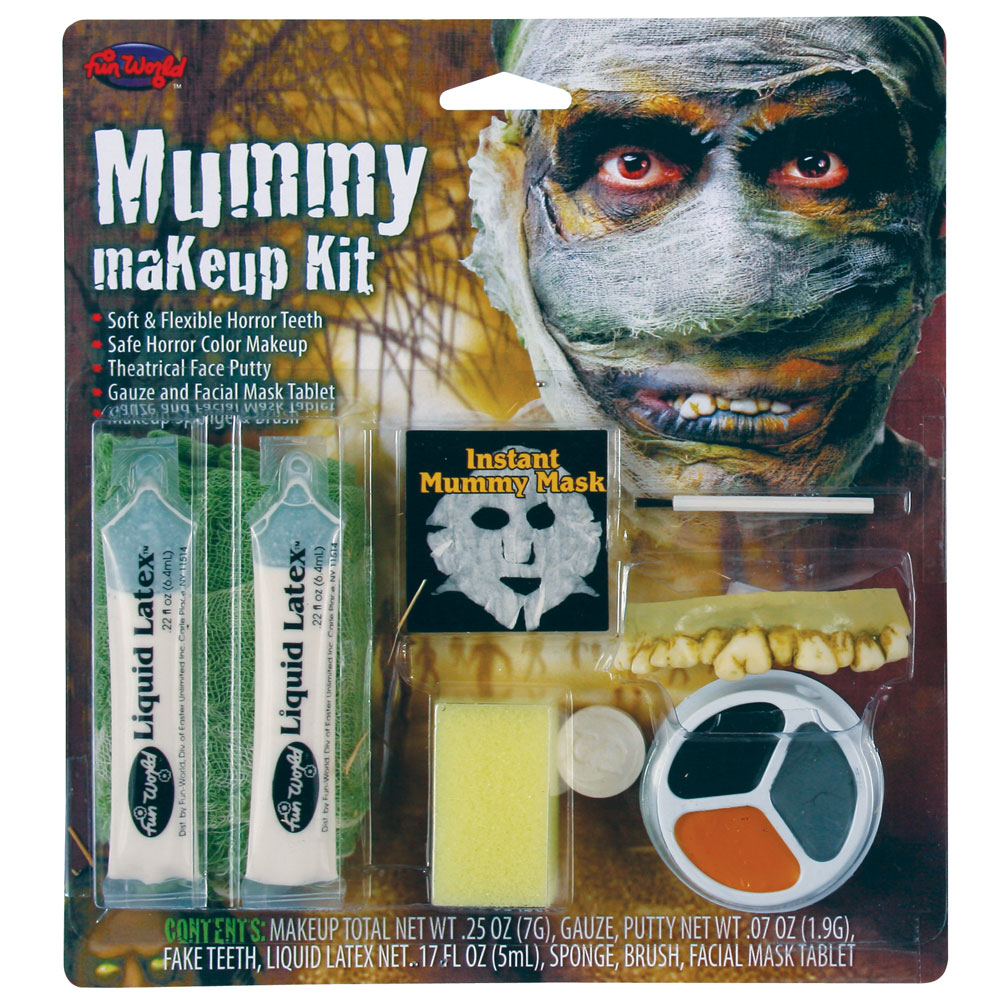Mummy Makeup Kit for Halloween Zombie Accessories Fancy Dress