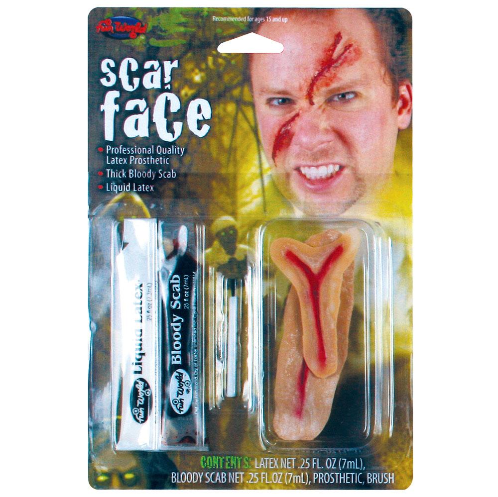 Scar Face Fx Kit Makeup for Fancy Dress