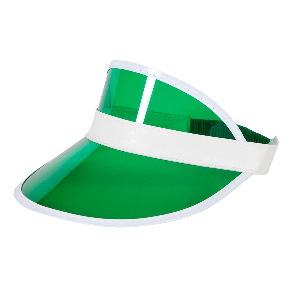 Poker Green Visor Hat (Good Quality) for Gambling Vegas Cards Fancy Dress