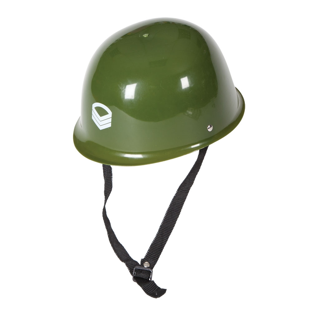 Army Helmet Hat (Plastic) for Soldier War Military Fancy Dress