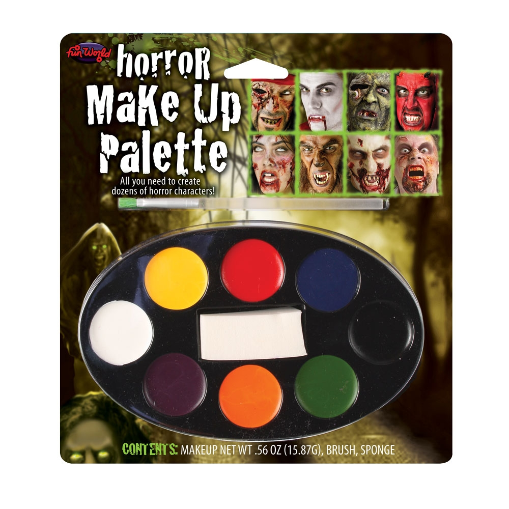 Horror Makeup 8 Colour for Halloween Fancy Dress