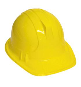 Construction Helmet for Builder Hard Fancy Dress Accessory