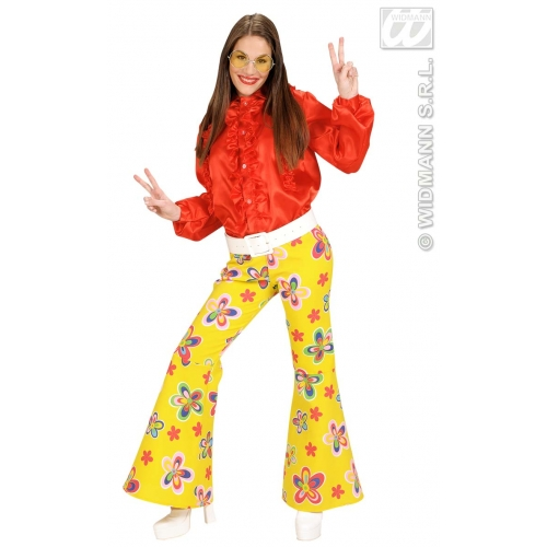 M Ladies M SIZE Red SATIN Costume for 70s Disco Hippie Fancy Dress Outfit Medium UK 10-12 Adults Female