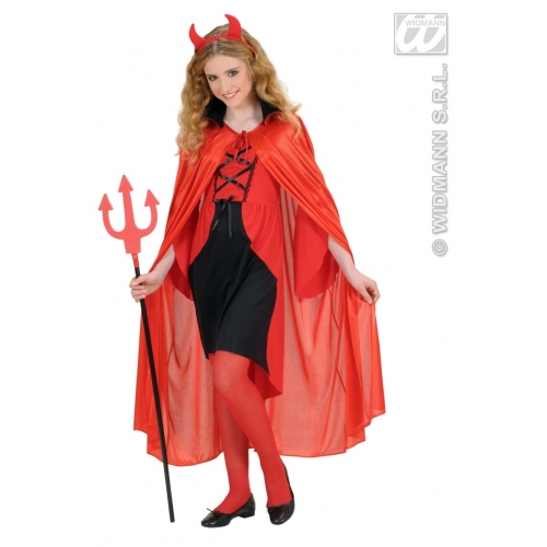 Child Unisex RED CAPE W/BLACK COLLAR SIZE Accessory for Superhero Villian Super Hero Fancy Dress Unisex Kids Girls