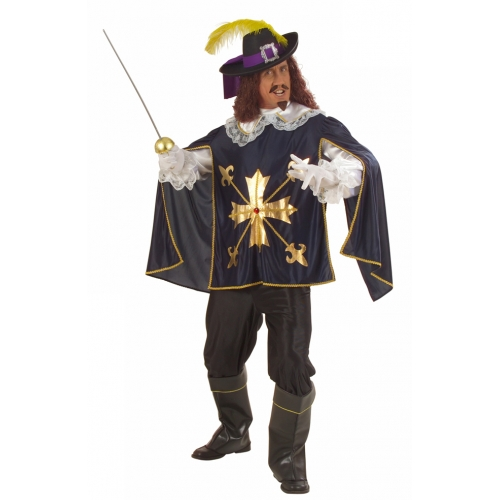 "XL Mens MUSKETEER COAT Accessory for Athos Aramis d'Artagnan Fancy Dress Extra Large 46""chest Adults Male"
