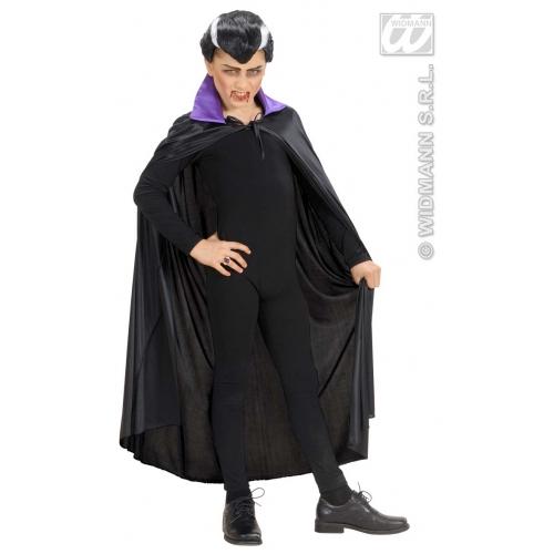 Child Unisex BLACK CAPE W/PURPLE COLLAR SIZE Accessory for Superhero Villian Super Hero Fancy Dress Unisex Kids Girls