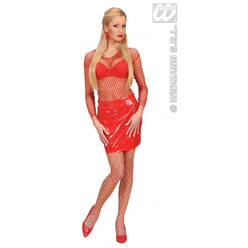 M Ladies M SIZE RED FISHNET SHIRTS for Sexy Adult Role Play Fancy Dress Medium UK10-12 Adults Female