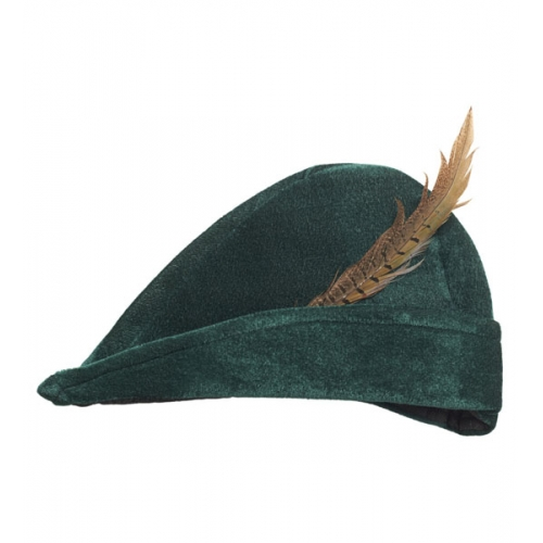 PRINCE OF THIEVES HAT WITH FEATHER Accessory for Royal fairytale Handsome Hero Fancy Dress