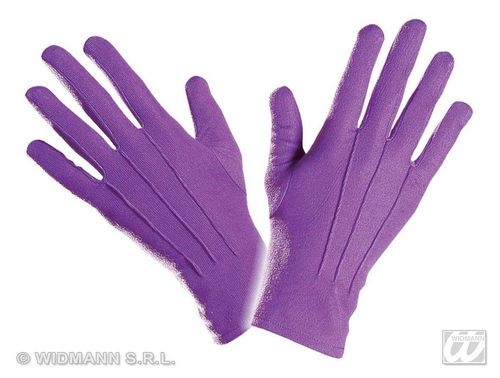 Ladies Purple 40s 50s GLOVES SHORT Accessory for 40s WWII Fourties Fancy Dress 1Size Adults Female