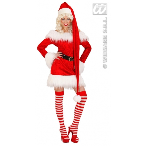 SANTA CLAUS HAT EXTRALONG 150cm Accessory for Father Christmas Fancy Dress