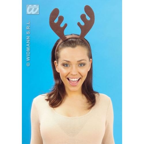 REINDEER HEADBAND Hat Accessory for Christmas Animal Festive Fancy Dress