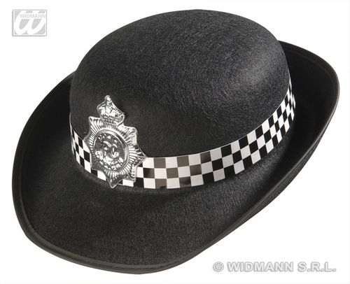 POLICE HAT FELT WOMAN Accessory for Cop Policeman Copper Bobby Fancy Dress