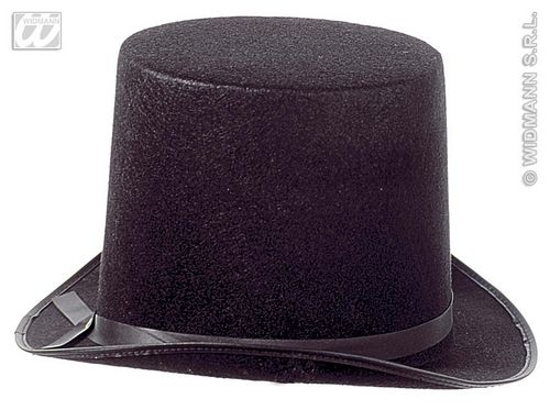 VICTORIAN TOP HAT EXTRA HIGH FELT Accessory for 18th Century Dickensian Edwardian Fancy Dress