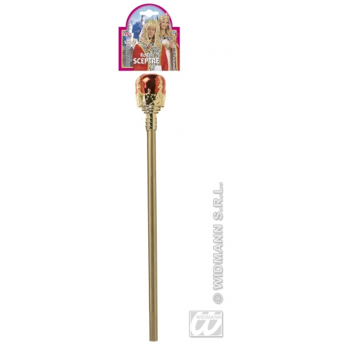 DECORATED SCEPTRE Accessory for King Queen Royal Fancy Dress