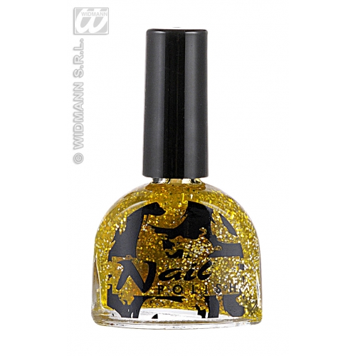 GOLD GLITTER NAIL POLISH 7ml SFX for Cosmetics