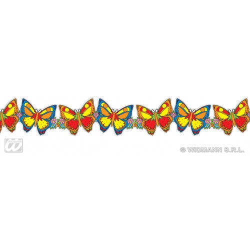 BUTTERFLY GARLANDS 3m for Caterpillar Bug Insect Animal Decoration Party